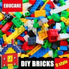 цена на New 8 Styles DIY Educational Building Brick City Toy Fit Lepinings Bulk Bricks City Technic Model Building Block Kid Gift