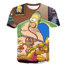 New  Simpson printing T-shirt 3D boy and women fashion men T-shirt casual Harajuku cartoon funny Creative Casual Hip Hop T Shirt assassin creed t shirt men casual fashion men s short sleeve t shirt boy girl hip hop t shirt top tees