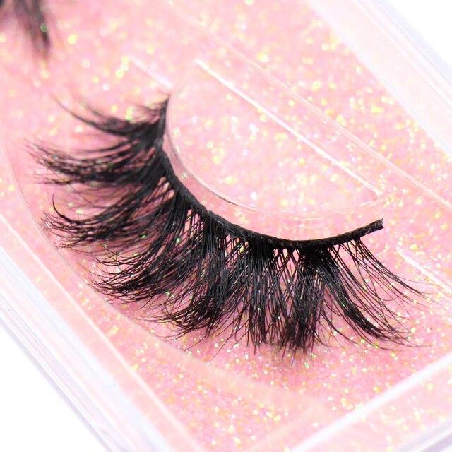 LEHUAMAO Makeup Mink Eyelashes 100% Cruelty free Handmade 3D Mink Lashes Full Strip Lashes Soft False Eyelashes Makeup Lashes 1