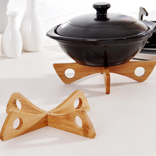 Detachable Wood Table Mat Kitchen Pot Heat Insulated Cooling Dish Potholders NEW
