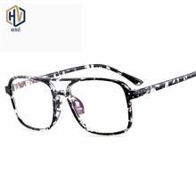 Fashion New Square Optics Glasses Frame Men Women Retro Double Beam Printing Spectacles Frames Prescription Eyeglasses beam to column joints in rc frames