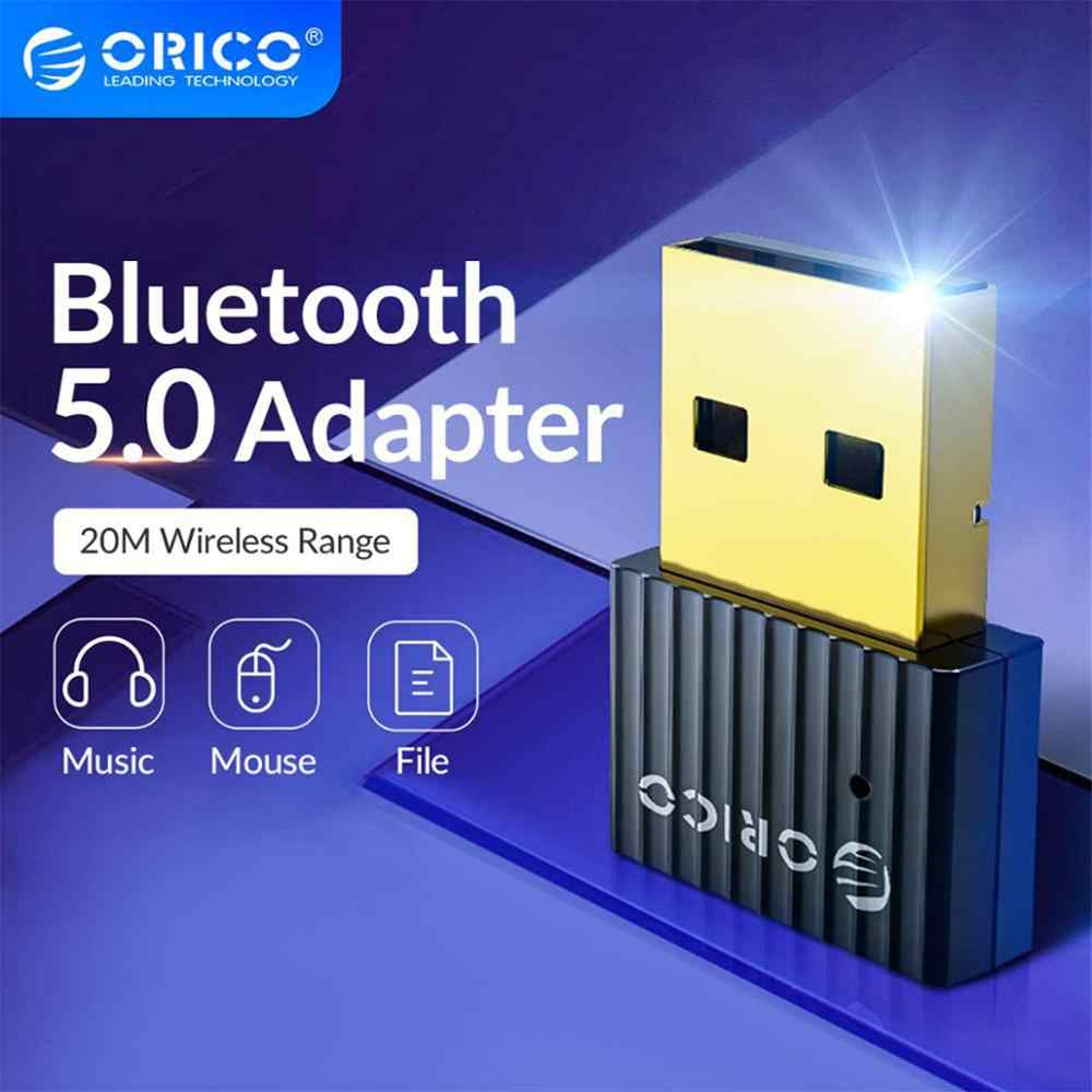ORICO Mini Wireless USB Bluetooth Dongle Adaptor 5.0 Bluetooth Musik Audio Receiver Transmitter untuk PC Speaker Mouse Laptop