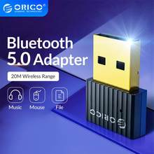 Orico mini sem fio usb bluetooth dongle adaptador 5.0 bluetooth música receptor de áudio transmissor para pc falante mouse portátil