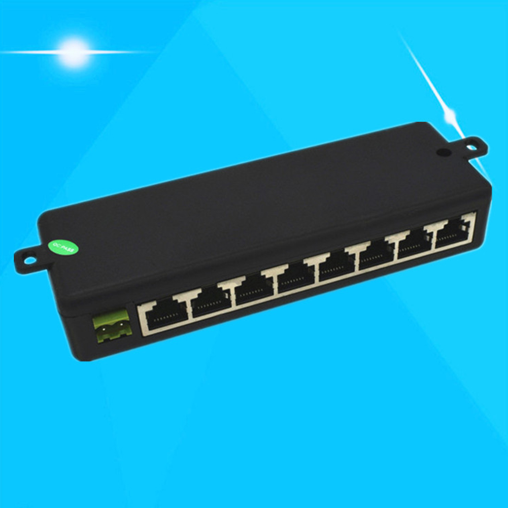 Power Supply Box CCTV Weak Electric Module Injector Splitter 8 Ports Centralized 12-48V POE Network Camera Ethernet Monitoring