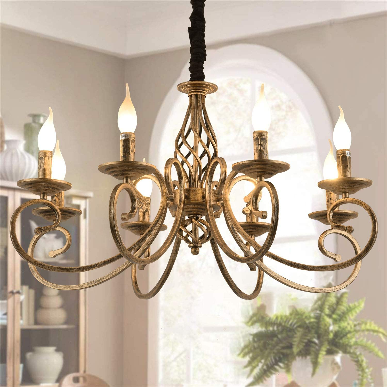 Ganeed Rustic French Country Vintage Chandeliers Antique Bronze Retro Light For Kitchen Farmhouse Dining Living Room Home Loft Chandeliers Aliexpress