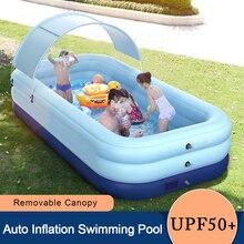 Baldacchino smontabile della zattera del galleggiante dello stagno gonfiabile resistente al sole della piscina automatica di gonfiaggio per il partito all'aperto dell'acqua del cortile