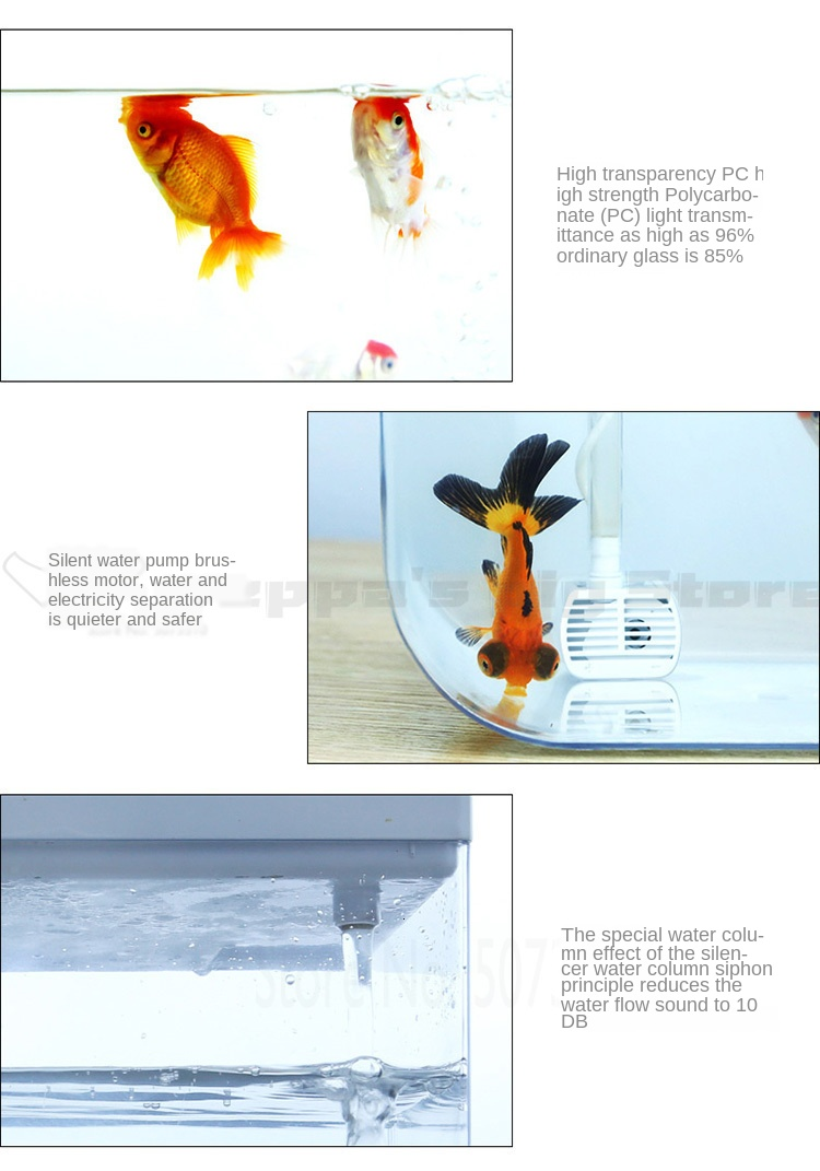 Water Free Ecological Goldfish Tank Living Room Home Desktop Small Symbiosis System Flower Muzy Lazy Aquarium Fish Box Aquariums Tanks Aliexpress