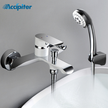 Bathroom Shower Faucet Shower Set 2 Function Options Bathtub Faucet Wall Mounted Cold and Hot Water Mixer Tap black shower mixer set with bidet bathroom shower wall bathroom four function shower faucet bathtub black bidet shower mj9888