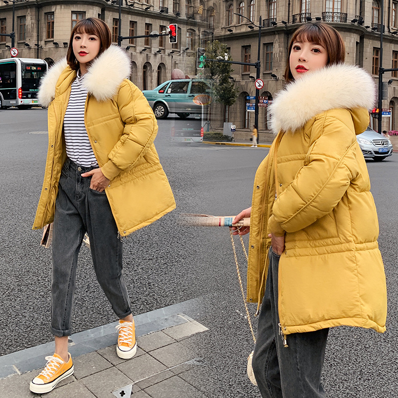 winter jacket women hooded fur collar   parka   long winter coat women large size bread coat thick woman winter coats and jackets