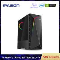 PC de jeu de bureau Intel P18 i5 9400F 6-core/carte dédiée GTX1650 4G/1T + 120G SSD/8G DDR4 RAM ordinateur de jeu