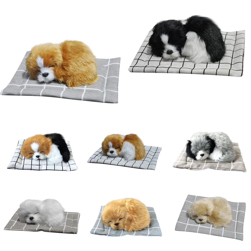 1:12 Dollhouse Miniature Furniture Home Mini Plush Dog Model Toy Pretend Play Doll Houses Simulation Puppy Stuffed Toy Kids Gift