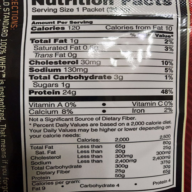 ON Optmont whey protein powder whey sports fitness supplement 1bag of 30g US imports authentic guarantees