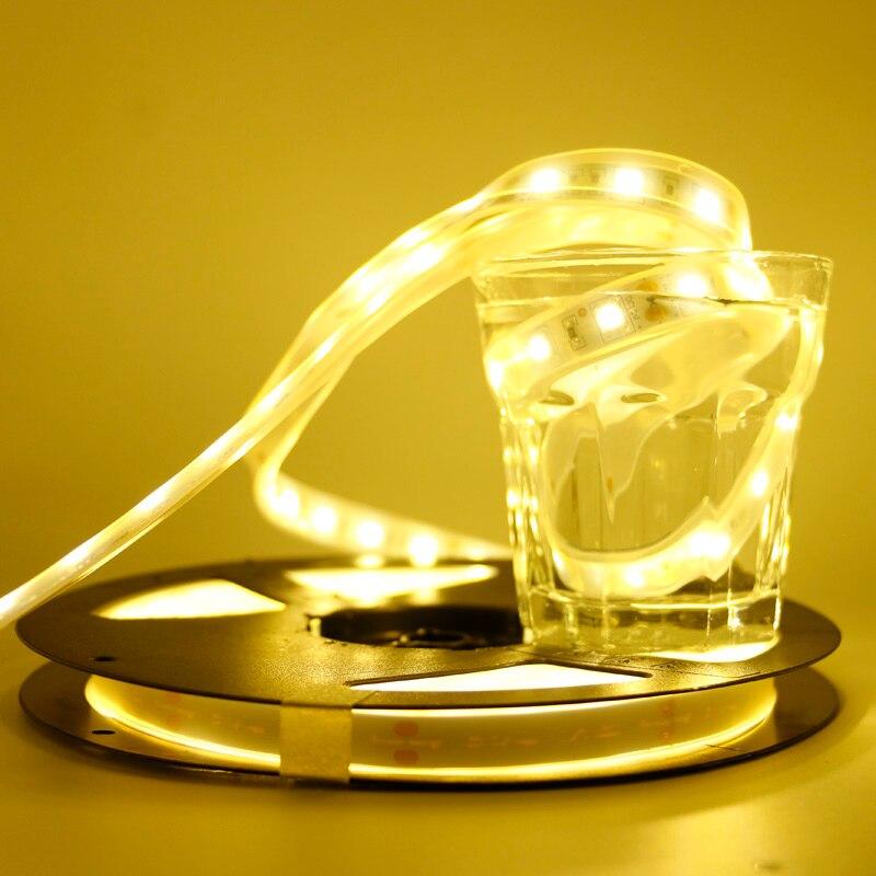 DC12V 1/2/3/4/5M 5050 SMD RGB LED Strip Light Waterproof Led Tape Flexible Strip Light 60Leds/m Tira Home Decor Lamp Car Lamp