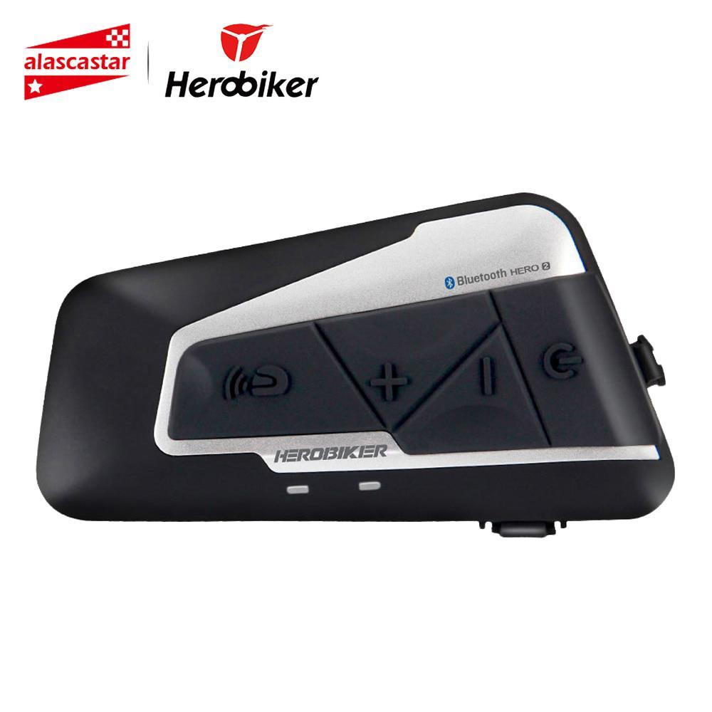 HEROBIKER Moto Interphone Moto casque étanche sans fil Bluetooth Interphone Moto casque avec Radio FM pour 2 manèges 1200M