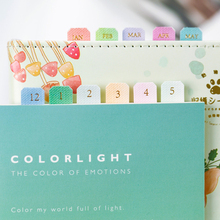 10Sheets Gradient Color Index Separator Gold Foil Sticker Notepad Classification Mark Label Sticker Bookmark Planner Sticky Note