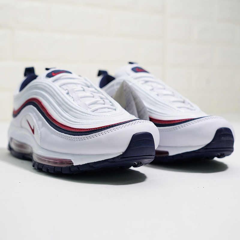 Оригинальные подлинные женские кроссовки для бега от NIKE Air Max 97 paint Splash, удобные, для спорта на открытом воздухе, дышащие, легкие, 312834