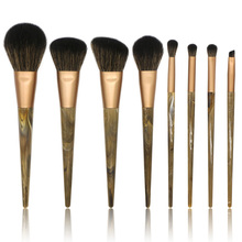 8pcs Women Makeup Brushes Set Make up Brushes Imitation Wool Professional Makeup Marble Resin Handle Brush Beauty Tools Kit