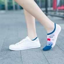 Spring Autumn Sock Slippers Creative Cartoon World Tourist Attraction Pattern Breathable Cotton Unisex