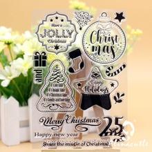 Прозрачные штампы высечки праздничные Подвески DIY Фотоальбом для скрапбукинга бумага ремесло резиновый ролик прозрачный кремний штамп AlinaCraft