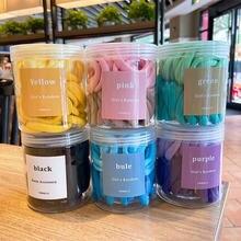 Оптовая продажа разноцветные резинки для волос девочек в коробке