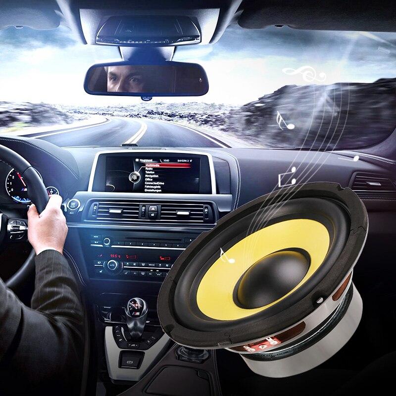 6.5'' 50W Car Audio Stereo Horn Subwoofer Bass HIFI Speaker 4 Ohm Magnet For Car Truck RV Camper Boat Yacht Etc Woofer Speaker
