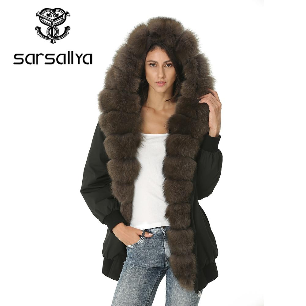 Mulheres Jaqueta de inverno Senhoras De Pele Parka Com Capuz Casacos Feminino Casaco de Pele Verdadeira Mulheres Quentes Casuais Roupas de Outono Do Vintage 2019 Nova