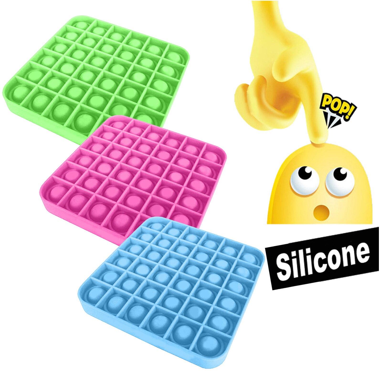 Popit Silicone poussée bulle Fidget jouet sensoriel autisme spécial abréagir décompression jouets besoins anti-Stress pression Juguetes