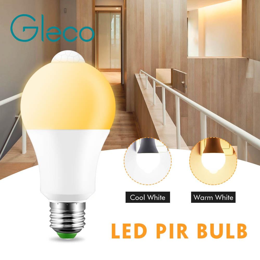 Светодиодный инфракрасный светильник, светодиодный детектор движения E27 12 Вт, Индукционная лампа для корпуса, Автоматическое включение/вык...