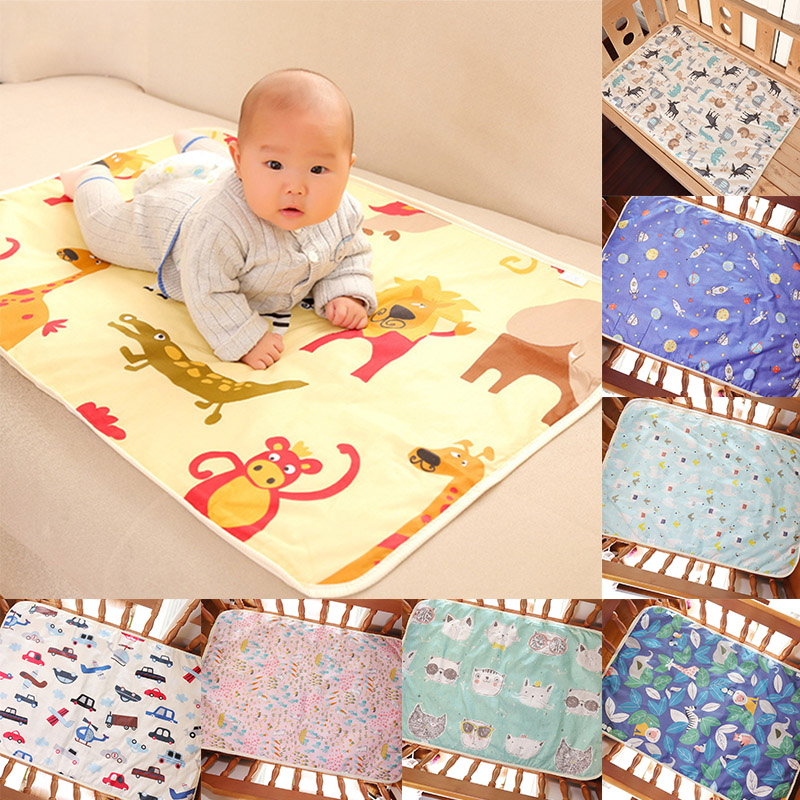 Hot Sale Baby Waterproof Urine Pad Diaper Changing Mat Cover 60x90cm Breathable For Bed