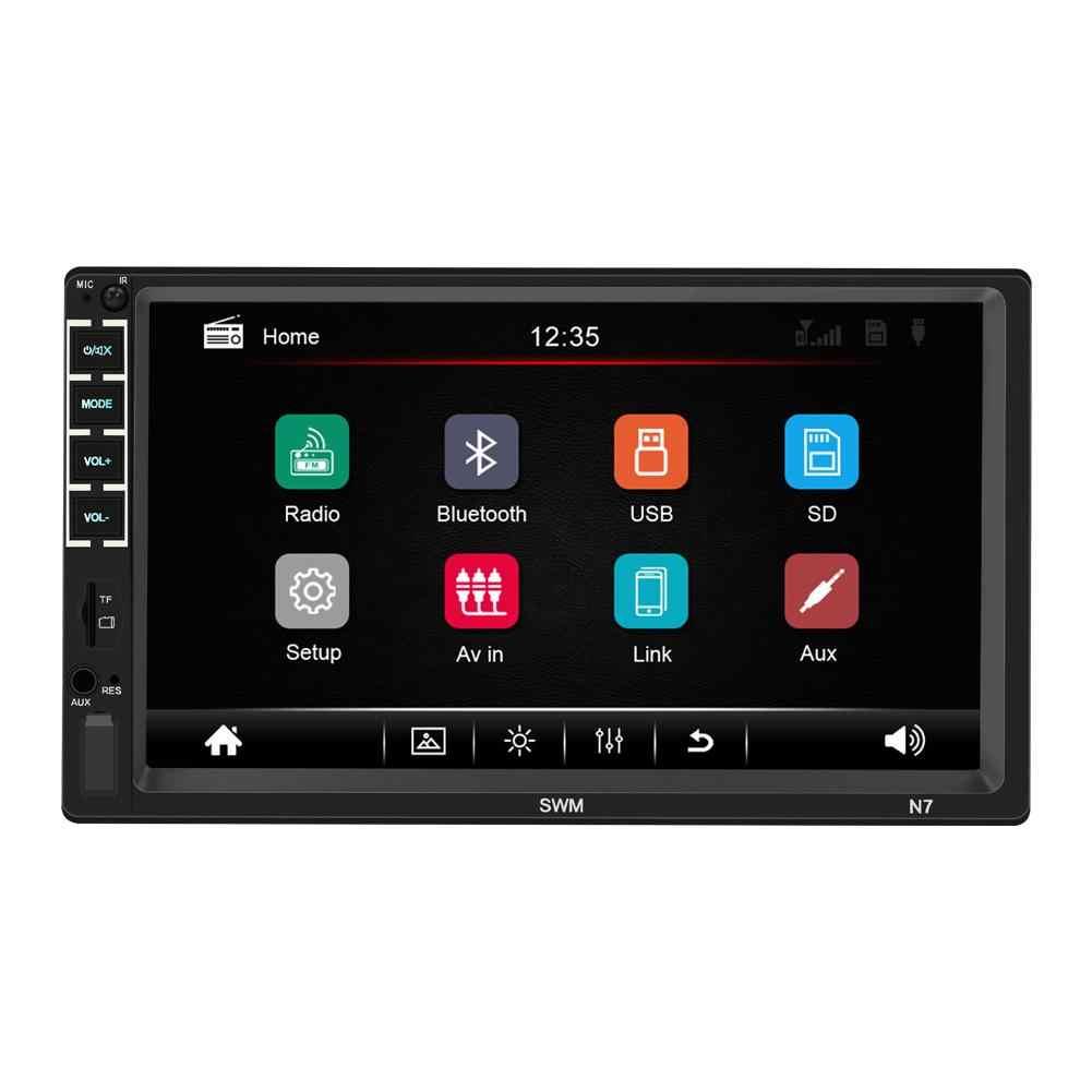 Radio samochodowe 7 Cal samochodowy bluetooth wieża Stereo z ekranem dotykowym 2 DIN HD odtwarzacz MP5 lusterko wsteczne oglądanie USB ładowanie Stereo