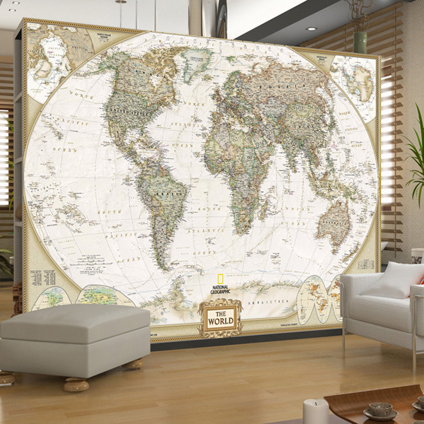Custom Photo Wallpaper Large Mural Office World Map Wallpaper Bedroom Sofa Background Wallpaper Non-woven Mural