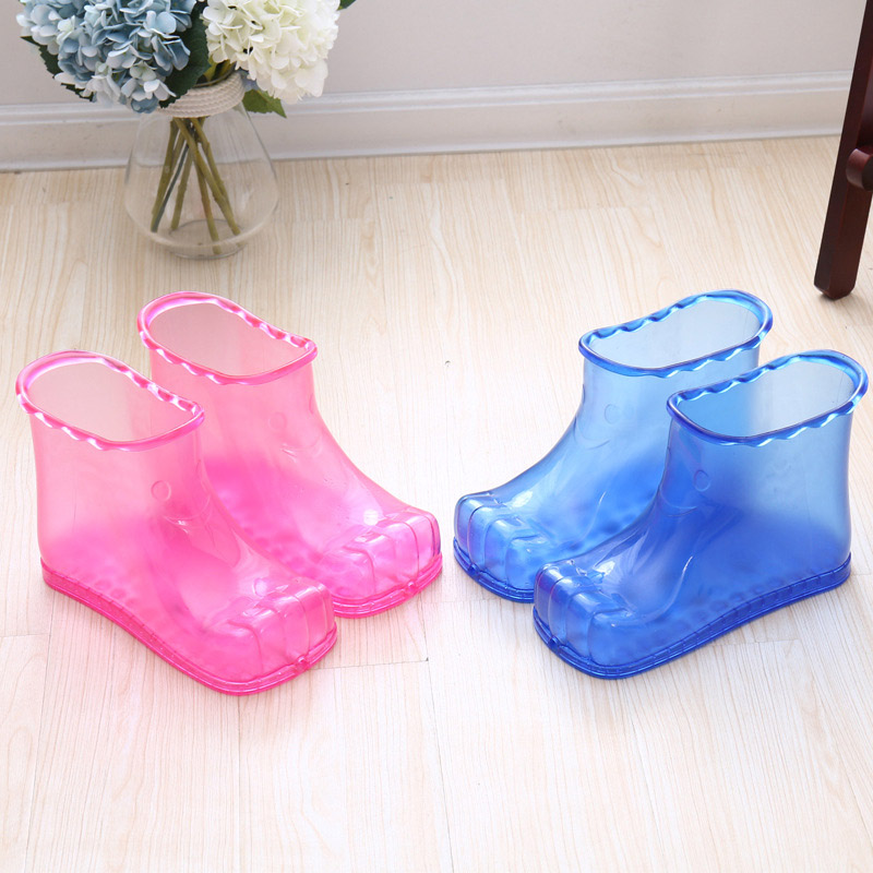 Foot Bath Massage Stress Relief Boots SPA Relaxation Bucket Feet Care Hot Compres Shoes PVC Durable DC88