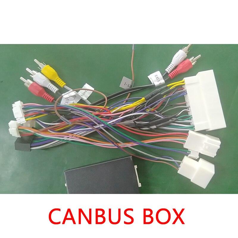 LEEWA Car Audio 16PIN Android Power Cable Adapter With Canbus Box For KIA KX3/KX5/KX7 For Hyundai Encino/Mistra/IX35/IX45