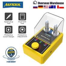 Autool spt101 vela de ignição do carro testador com auto ajustável duplo buraco detector ignição plug analyzer 110v 220v para veículos 12v