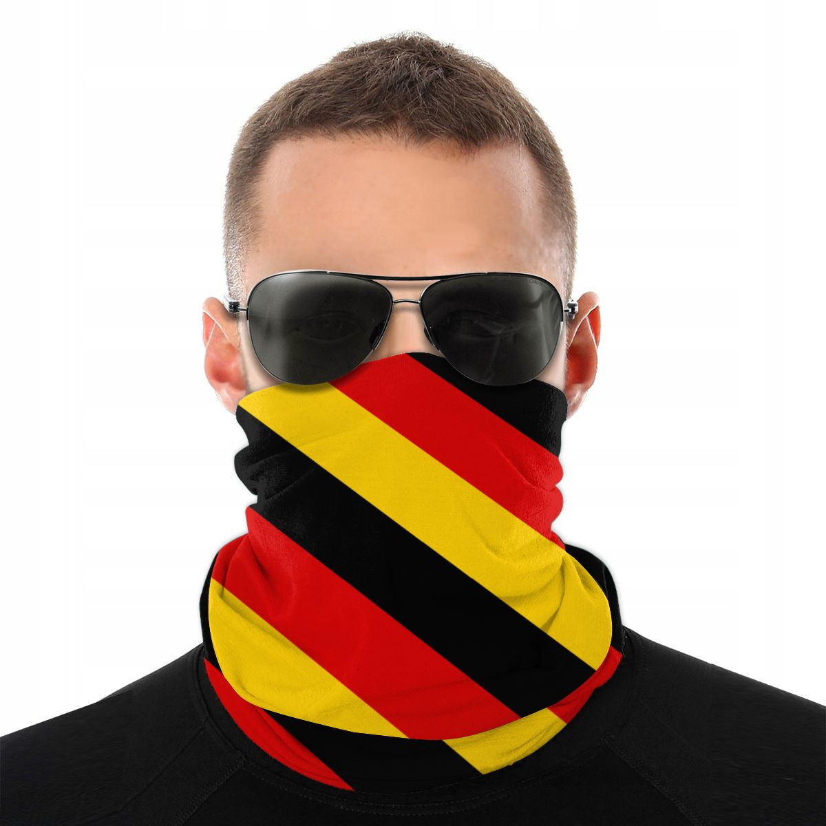 German Flag Scarves Neck Face Mask Unisex Halloween Mask Tube Scarf Tubular Bandana Versatility Headwear Cycling Hiking