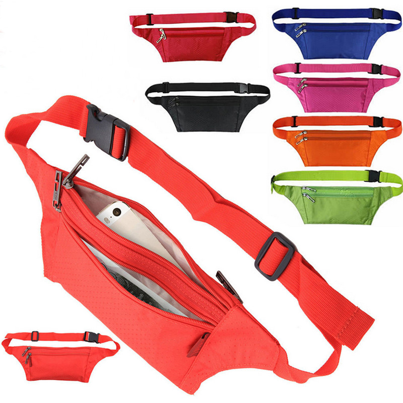 2020 Neon Colors Outdoor Sport Bum Bag Fanny Pack Travel Waist Money Belt Zip Pouch Wallet Unisex