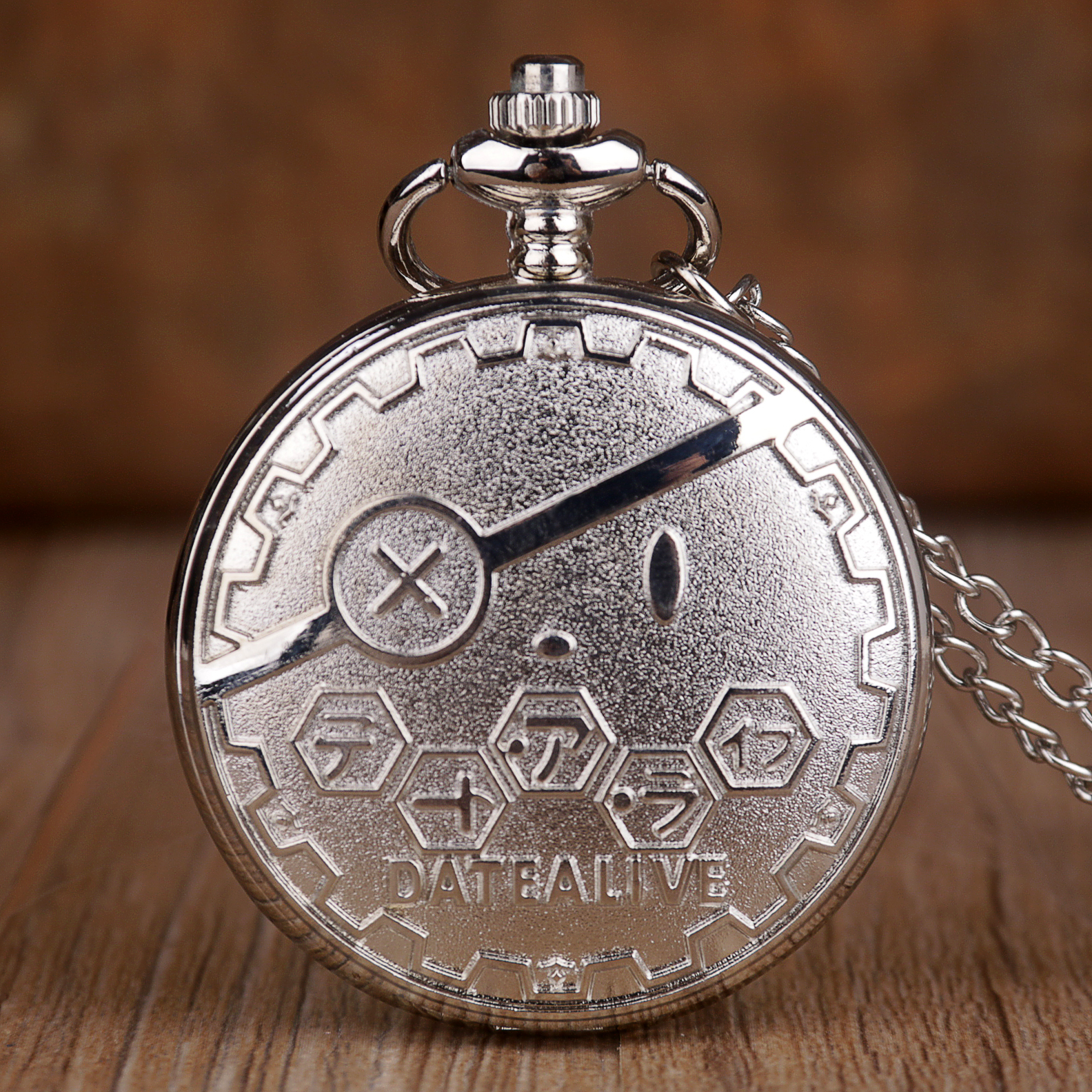New Fashion Silver Cute Bear Design Fashion Quartz Pocket Watch Necklace Chain Pocket Watches Best Gifts For Boys Girls