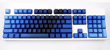 Blue Green Color Gradient Keycaps PBT 104 108 Standard ANSI OEM Profile  Side Print for Cherry MX Switches Mechanical Keyboard