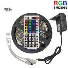 5050 RGB LED strip light 12V set waterproof color led remote controll flexible ribbon tape soft Led bar