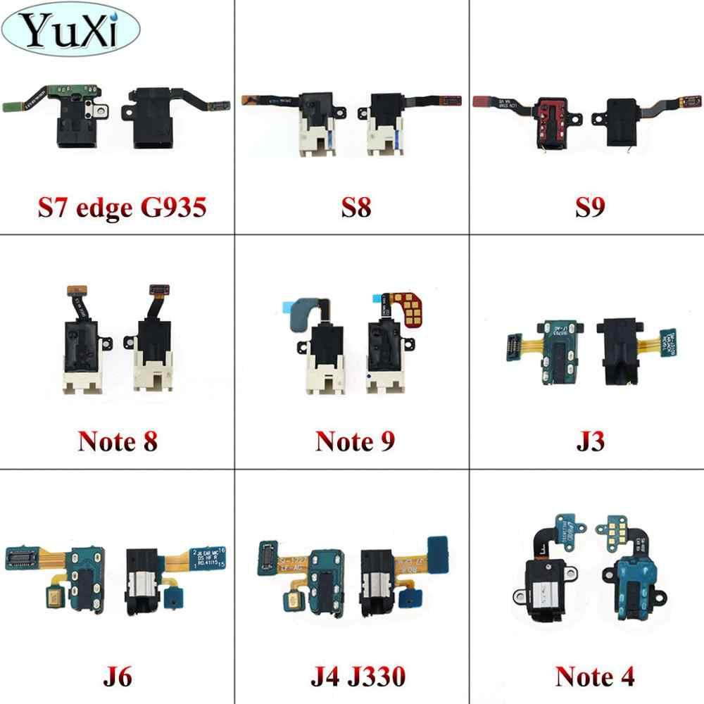 玉渓サムスンギャラクシー J4 J3 J330 J6 S7 エッジ S8 S9 注 4 8 イヤホンジャックヘッドホンオーディオマイクフレックスケーブルオーディオジャックフレックス