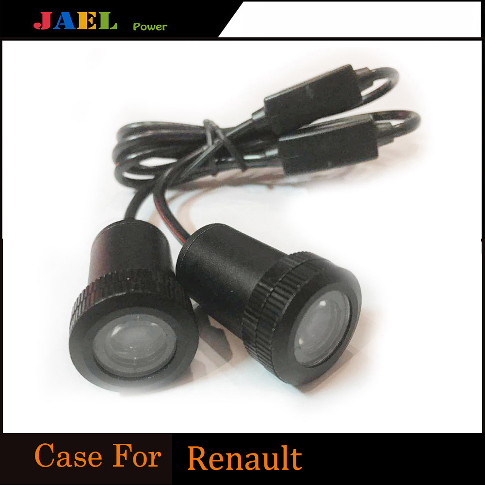 2PCs <font><b>LED</b></font> Car door welcome light Case For <font><b>Renault</b></font> <font><b>Led</b></font> <font><b>Logo</b></font> Light courtesy <font><b>led</b></font> car laser projector <font><b>Logo</b></font> image