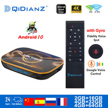 กล่องทีวีAndroid 10 4K Dual Wifi BT Netflix Media Player Play Store AppฟรีFastชุดกล่องด้านบนPK IPTV HK1MAX H96 A95X(China)
