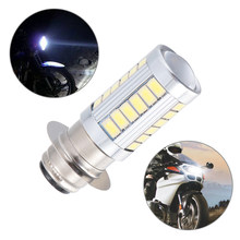 Ampoule de phare de moto Led H6 BA20D, lumière de moteur 33smd, phare blanc, accessoires de motocyclette, 1 pièces