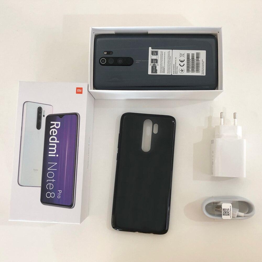 Globale Versione Xiaomi Redmi Nota 8 Pro 6 Gb 64 Gb Del Telefono Mobile 64MP Quad Fotocamera Mtk Helio G90T Octa core per Smartphone 4500 Mah Nfc