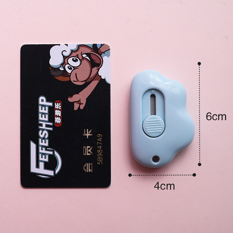 Cute Cloud Color Mini Portable Utility Knife Paper Cutter Cutting Paper Razor Blade Office Stationery Escolar Papelaria 5