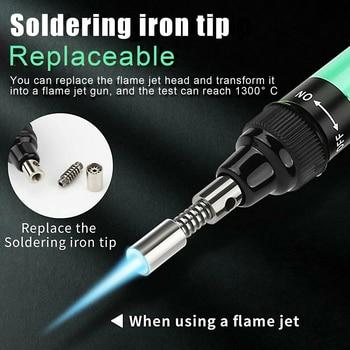 cordless refillable gases soldering iron pen kit gases soldering iron welding tool for electronics maintenance
