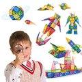 100 pçs blocos magnéticos brinquedos crianças quebra-cabeça jogos designer atração conjunto de construção magnética telhas tijolos modelo brinquedo para criança