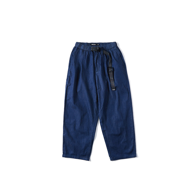 Tide Off Element Japanese-style Retro Men Loose Pants American Leisure Loose Thin Denim Loose-Fit Harem Ribbon Pants