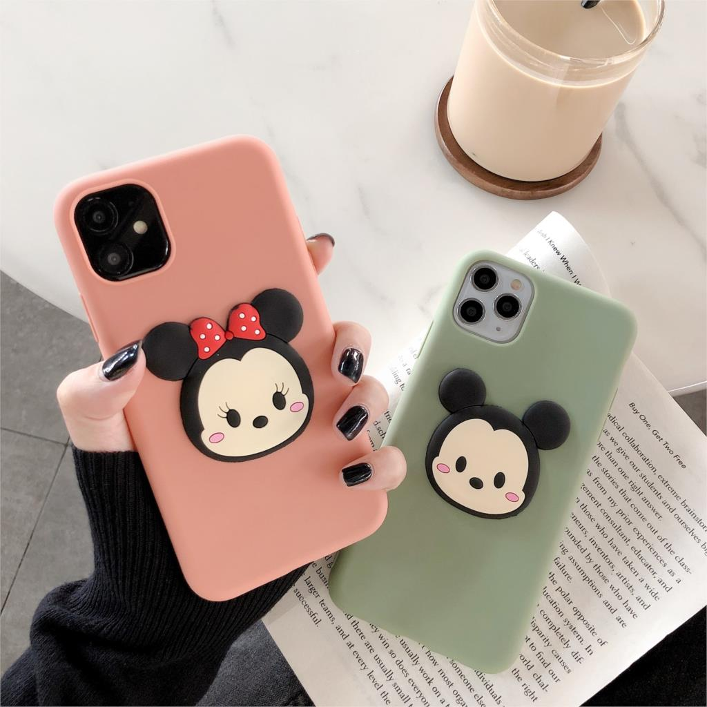 Cute Minnie case for <font><b>iphone</b></font> 11PRO MAX 6 S plus 7 7plus 8 8plus X XS XR MAX Pro Cartoon Soft Silcone girl toy 3D phone <font><b>coque</b></font> image