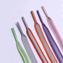 1Pair 3M reflective colorful shoelaces sports shoes running neutral fashion luminous
